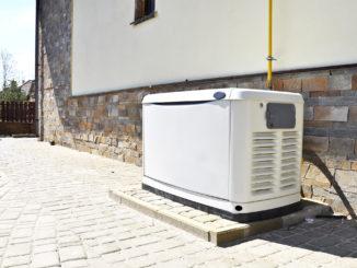 Residential gas backup generator.